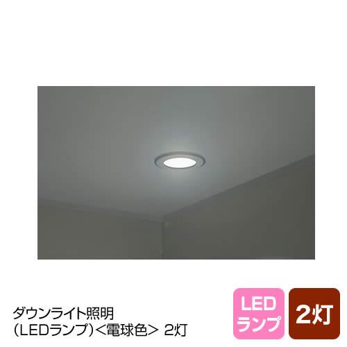 ダウンライト照明(LED電球)2灯