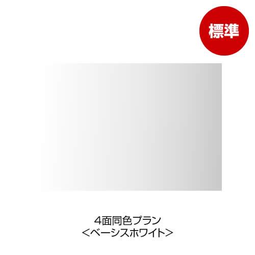 4面同色プラン <ベーシスホワイト(ツヤ消し)>