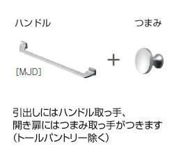 ハンドル取っ手+つまみ取っ手[MJD]